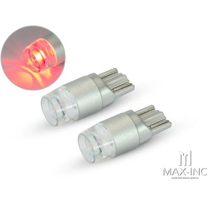 Pair T10 W5W 12V LED Projector Bulb - Red