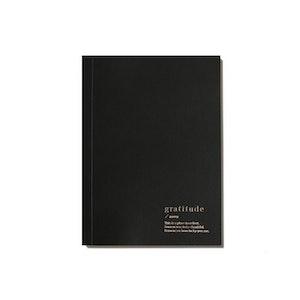 GRATITUDE LINED NOTEBOOK - BLACK