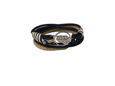 Breeze Black & Beige Double Wrap Bracelet
