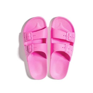FREEDOM MOSES SLIDES - BUBBLE GUM PINK