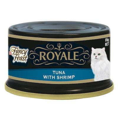 Fancy Feast Royale Wet Cat Food Tender Tuna & Shrimp 85g x 24
