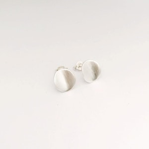 Small silver curved earrings