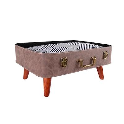 Ibiyaya Vintage Retro Suitcase Pet Bed - Brown