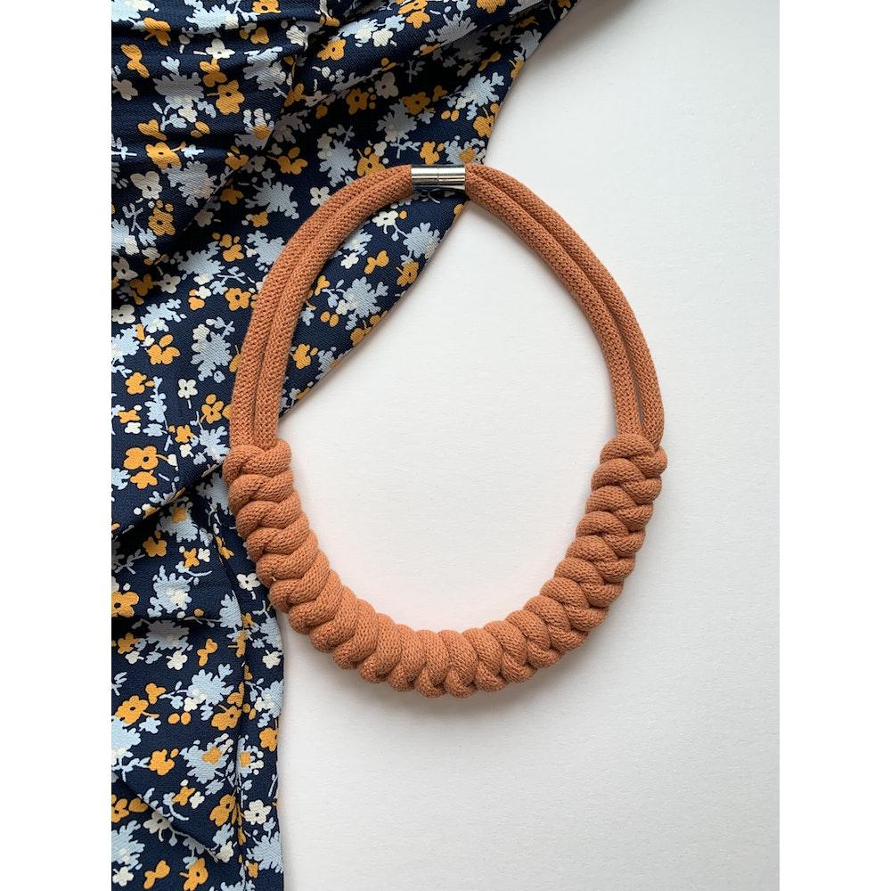 Form Norfolk Snake Knot Necklace In Pumpkin Orange
