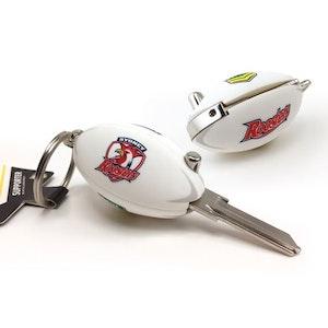 Creative Keys NRL Footy Flip Key Blank with Keyring LW4 - Sydney Roosters