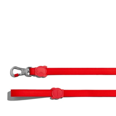 Zee Dog Neopro Adjustable Easy To Clean Dog Leash Coral Red- 2 Sizes