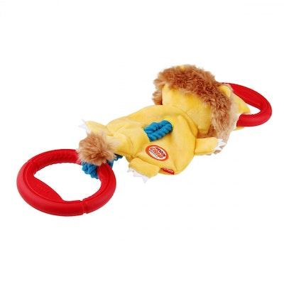GIGWI Interactive Dog Toy Iron Grip Plush Tug