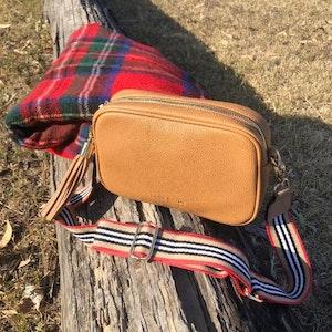 Camel Gigi handbag with Guitar Strap