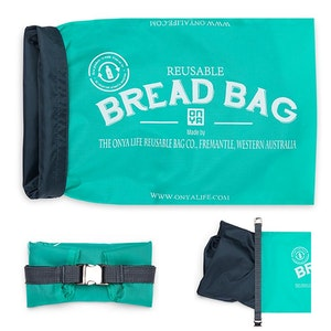 Onya Bread Bag made from recycled plastic drink bottles - Aqua