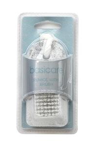 Basic Care Pumice With Brush 9.5cm