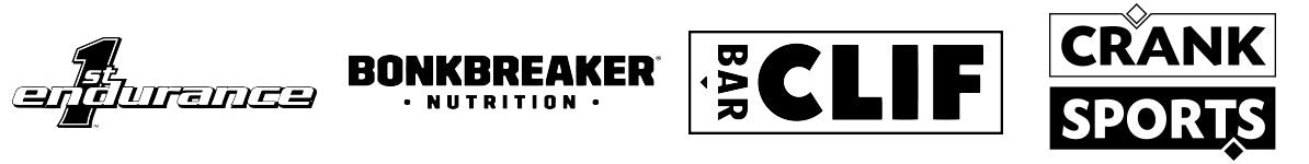 1st Endurance, Bonk Breaker Nutrition, Clif, Crank Sports