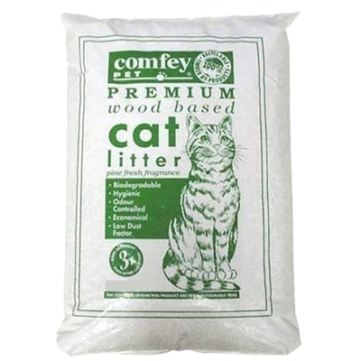 Comfey Pet Premium Wood Based Pine Shavings Pet Cat Litter - 2 Sizes
