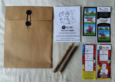 Horse Riding Hub JB Eco Art Pack with Art Bag, Sketchbook, Bookmark and Pencil