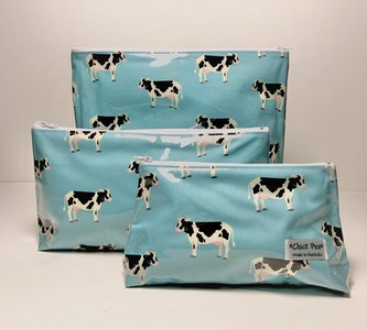 Toiletries Bags (set of 3) - Cow