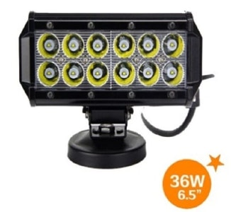 "6.5"" Flood Light 2800 Lumens, 36 watt, CREE LEDs, Light Bar"