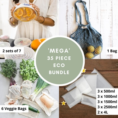 Us and The Earth Mega Eco Food Storage Bundle   Create A Plastic Free Kitchen Now!