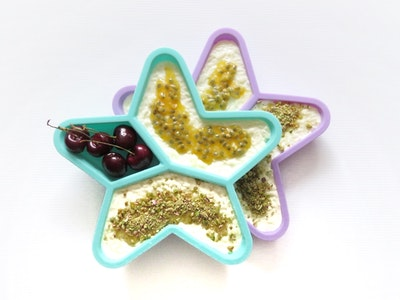 Star Grazer Silicone Divided Plate