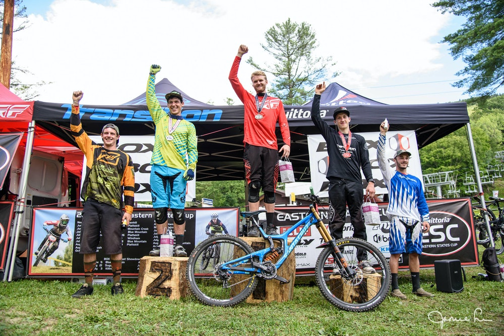 Mens DH podium