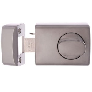 Lockwood 002-3SC automatic dead latch for open in metal frame fixing in satin pearl finish