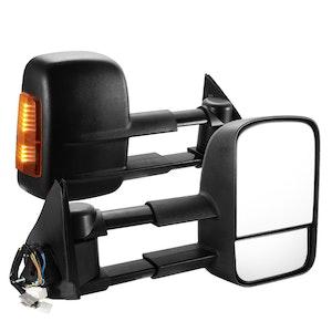 SAN HIMA SAN HIMA Pair Towing Mirrors for Holden Colorado 2002-2011 Black