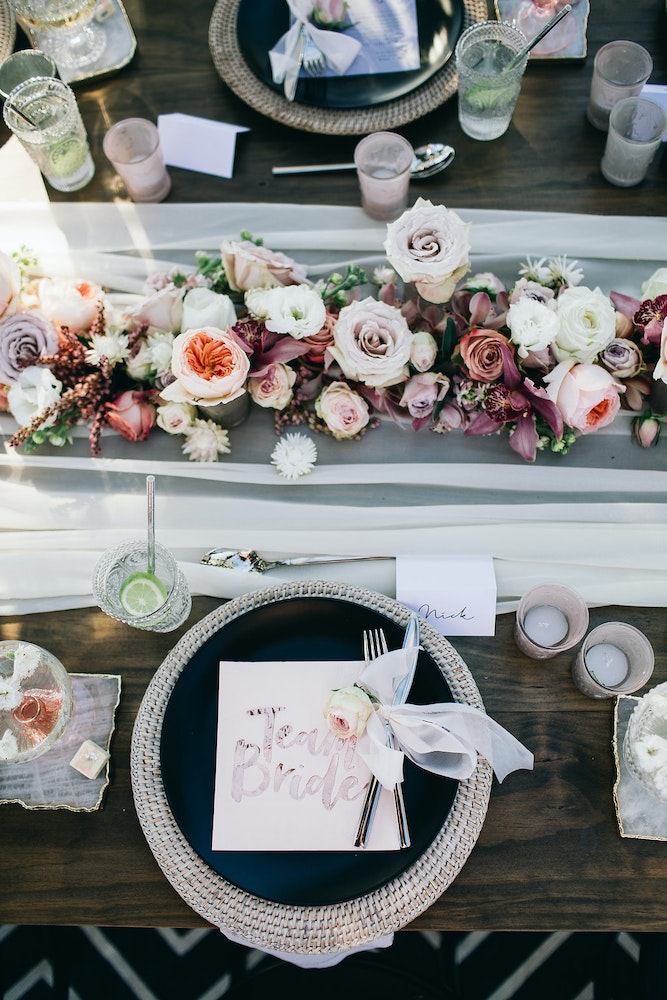 LENZO Bohemian Byron Bay Wedding Table Setting