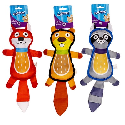 Chompers Plush Dog Toy Animal Character 3 Asstd 40x16cm
