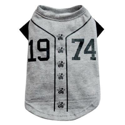 DoggyDolly BIG DOG - Doggy Baseball T Shirt Grey