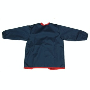 Silly Billyz Small Long Sleeve Navy/Red Waterproof Painting Apron (0-3yrs)