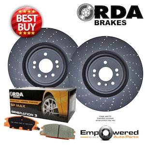 DRILLED REAR DISC BRAKE ROTORS + PADS for Mercedes Benz GLS350d 11/2015 onwards