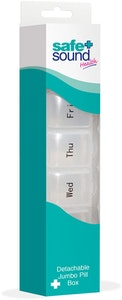 Safe + Sound Large Detachable 7 Day Pillbox Medicine Organiser