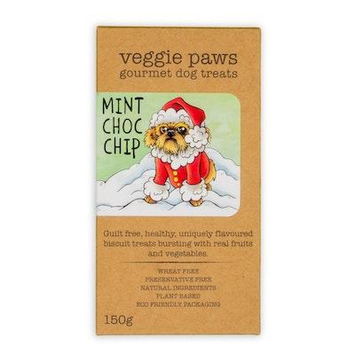 Veggie Paws Mint Choc Chip 150G