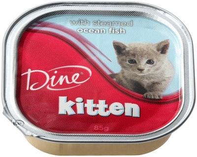 Dine Wet Kitten Food With Ocean Fish 85g x 14