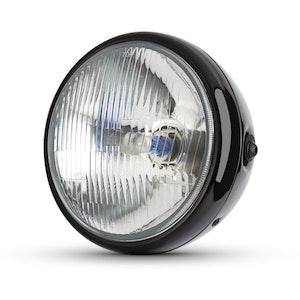 7.7 Classic Metal Headlight - Gloss Black