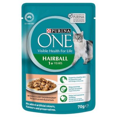 Purina One Hairball Chicken Wet Cat Food 70G