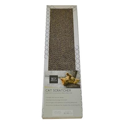 Zeez Single Width Cardboard Scratcher White 45 x 12 x 4cm