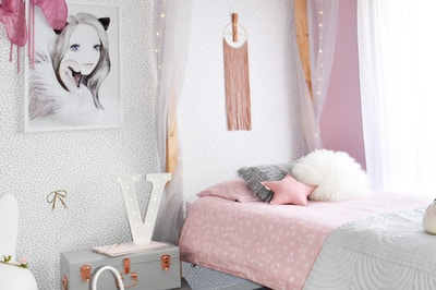 Perfectly Pink Girls' Bedroom