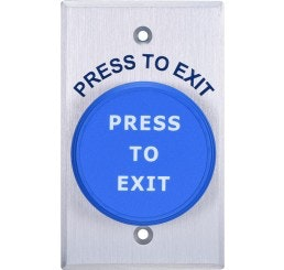 Lockton push button 'Egress Press To Exit'