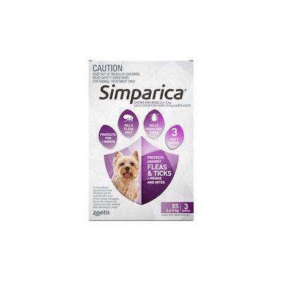 SIMPARICA 2.6kg To 5kg 3 Chews