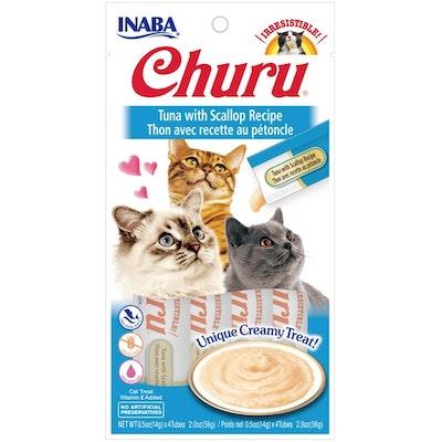 INABA® Churu Purée Cat Wet Treat – Tuna With Scallop  14g X 4