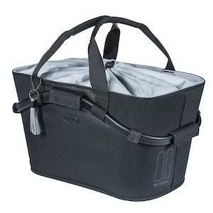 Basil Noir Carry All Rear Basket Midnight Black