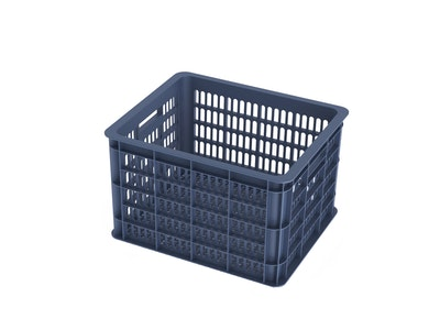 Basil Bicycle Crate Medium 33L Bluestone