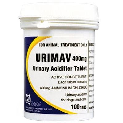 Mavlab Urimav Tabs Animal Urinary Acidifier Tablets 400mg 100 Pack