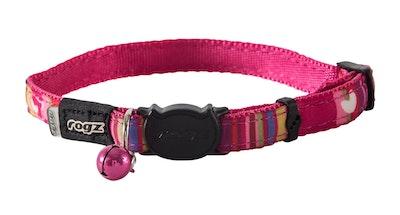 Rogz Neocat Safeloc Collar Pink Candy Stripe 11mm