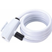 BicycleLock Quicksafe 8MM X 1500MM Coilcable White