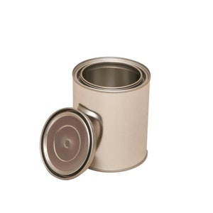 500ml Metal Top Open Can & Lid - 6 Cans
