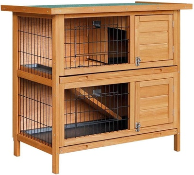 House of Pets Delight 2 Storey Wooden Rabbit Hutch