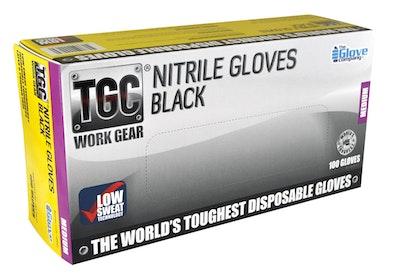 TGC Black Nitrile Gloves - 3 Sizes Available