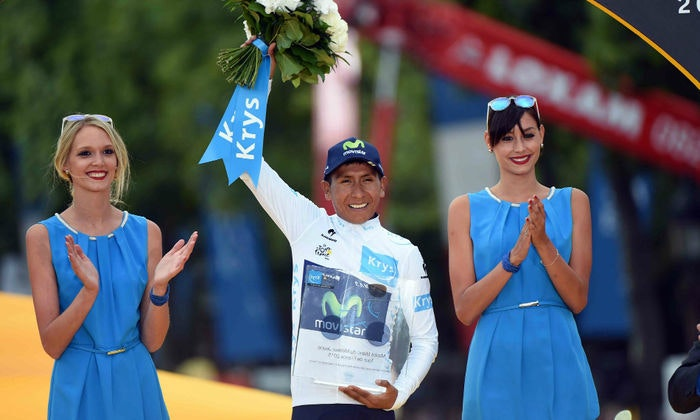 display Quintana White Jersey Winner