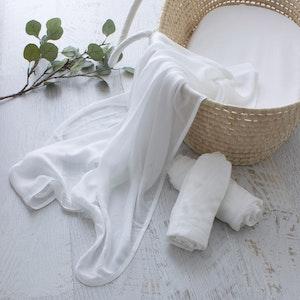 White Muslin Wrap 120cm x 120cm