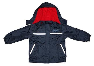 Silly Billyz Waterproof Jacket Red/Navy Medium
